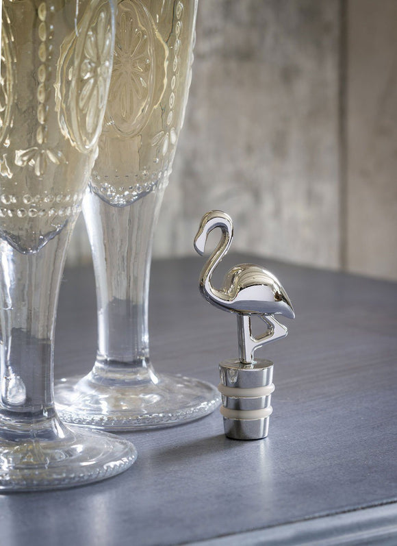 Silver Flamingo Bottle Stopper by Retreat Home - ash-dove