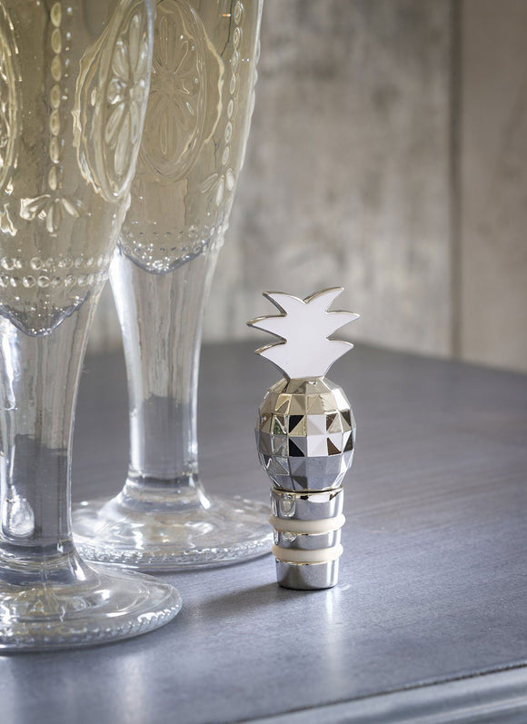 Retreat Home Pineapple Bottle Stopper - ash-dove