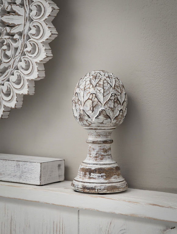 Wooden  Home Decor  Artichoke by Retreat Home - ash-dove