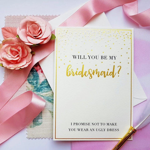 The Artfile Will You Be My Bridesmaid Greeting Card - ash-dove