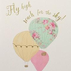 Paperlink Greeting Card Fly high reach for the sky - ash-dove