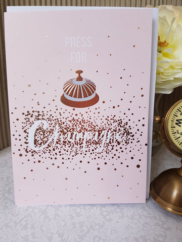 PaperLink Press for Champagne Greeting Card - ash-dove