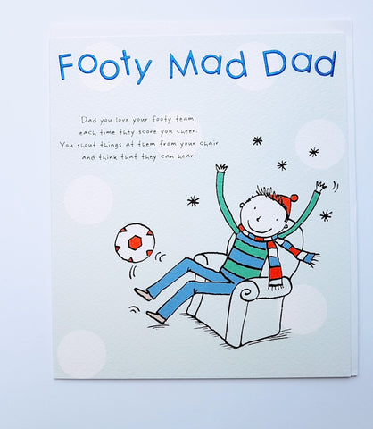 Paperlink Footy Mad Dad Father's Day Greeting Card