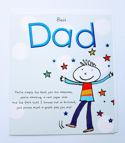 Paperlink Best Dad Father's Day Greeting Card
