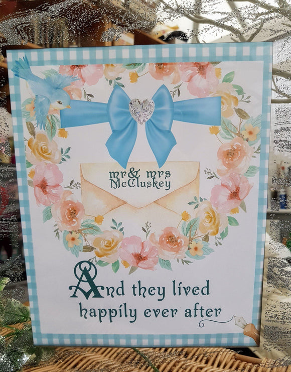 Fairy Tale Personalised Wedding Sign by Ash and Dove - ash-dove