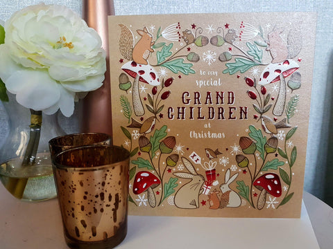 Special Grand Children Christmas Card Greeting Cards The Artfile