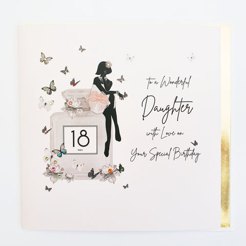 Daughter 18th Birthday Large Greeting Card by Five Dollar Shake Greeting Cards Five Dollar Shake