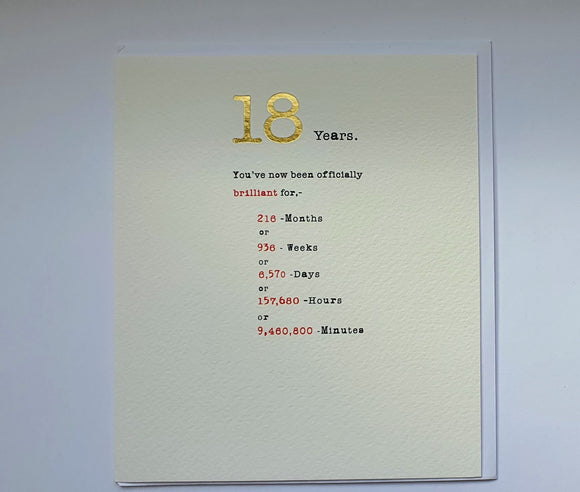 18 years greeting card by paperlink