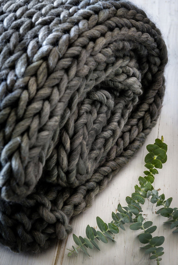 Charcoal Chunky Knit Throw By Retreat Home Shopping Retreat Home