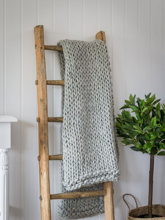 Grey Chunky Knit Throw By Retreat Home Shopping Retreat Home
