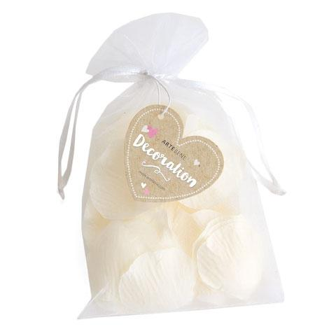 Soft White Silk Rose Petal Confetti by Artebene - ash-dove
