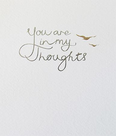 Paperlink You are in my Thoughts Greeting Card - ash-dove