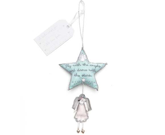 Blue Star and White Angel Gift