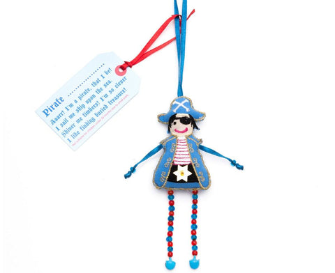 Blue Hanging Pirate