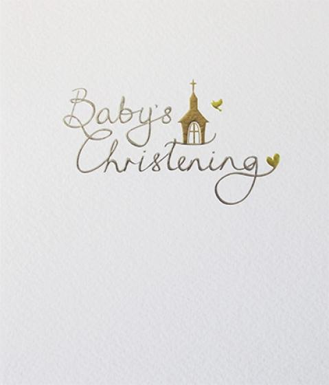 Paperlink Baby's Christening Card - Ash & Dove