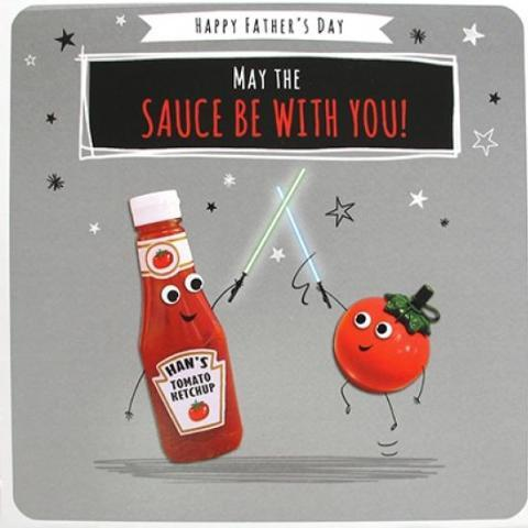 Paperlink May The Sauce Be With You Greeting Card - ash-dove