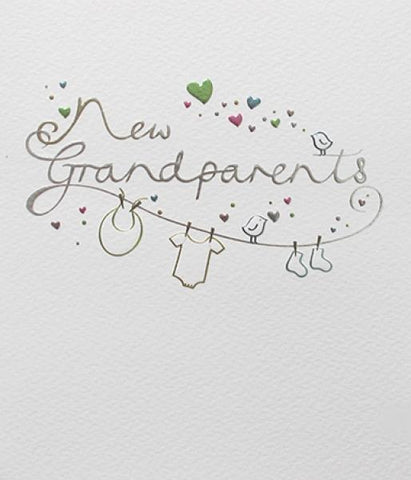 Paperlink Special New Grandparents Greeting Card - ash-dove