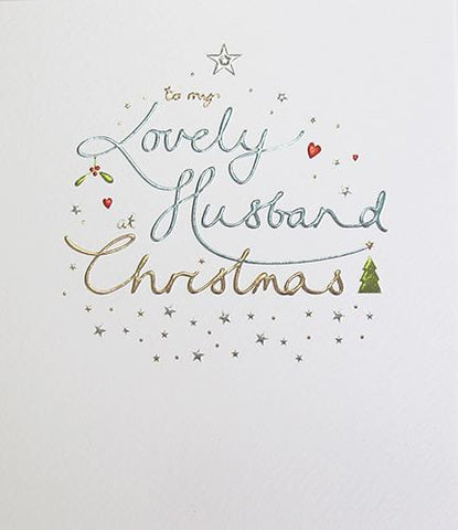 To my lovely Husband at Christmas card - ash-dove