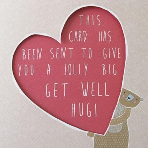 Heart  Get Well Greeting Card by Paperlink - ash-dove