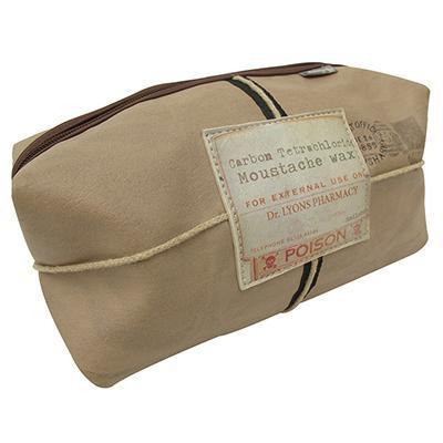 Apothecary Moustache Wash Bag by Disaster Designs - ash-dove