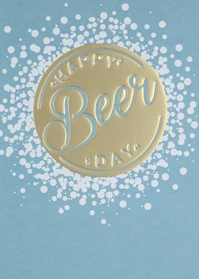 Paperlink Happy Beer Day Birthday Greeting Card - Ash & Dove
