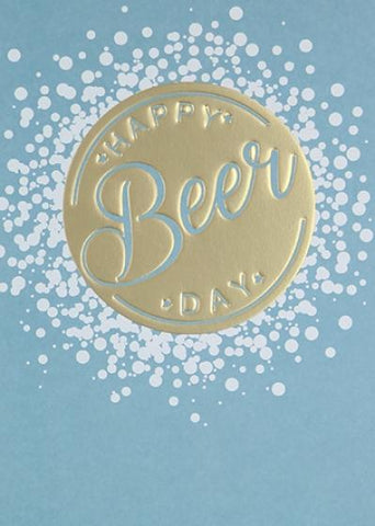 Paperlink Happy Beer Day Birthday Greeting Card - ash-dove