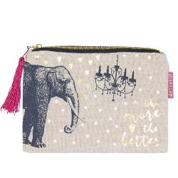 Makeup bag with Elephant by Artebene - ash-dove