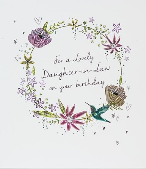 Daughter-in-Law Birthday Greeting Card by Paperlink - ash-dove