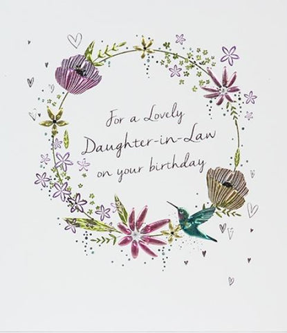 Paperlink Daughter-in-Law Birthday Greeting Card - ash-dove