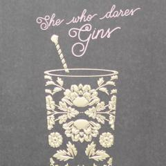 Paperlink She Who Dares Gins Greeting Card - ash-dove