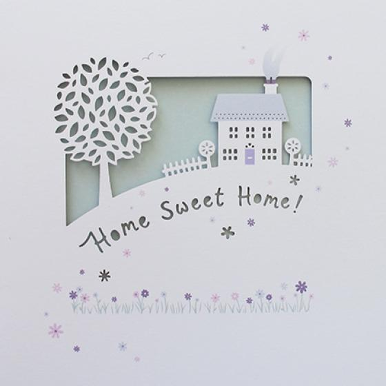 Paperlink Home Sweet Home Greeting Card - ash-dove