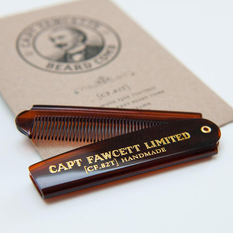 Captain Fawcett Pocket Beard Comb - ash-dove