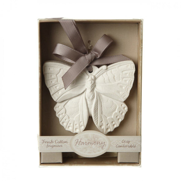 Heaven Sends Scented Fresh Cotton Butterfly Hanger with oil - ash-dove