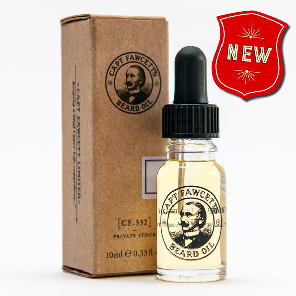 Captain Fawcett, Beard Oil Private Stock - ash-dove
