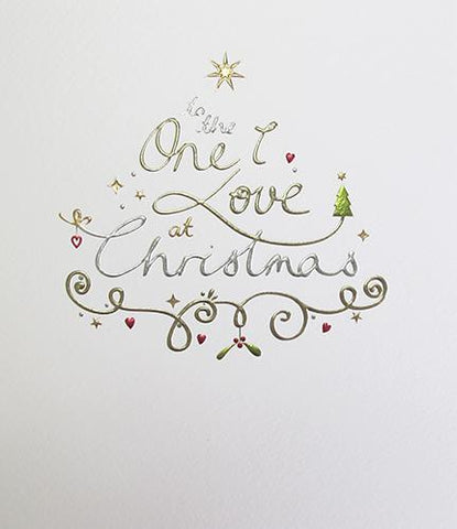 Paper Link To the One I love Christmas Greeting Card - ash-dove