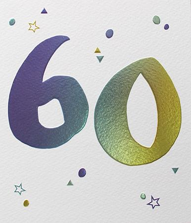60 Birthday Card by Paperlink Greeting Cards Paperlink