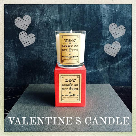 Valentines Jasmine Candle You Light Up My Life by Parkminster - ash-dove