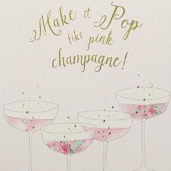 Paperlink Make it Pop like pink champagne Greeting card - ash-dove