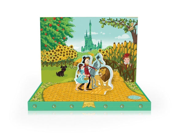 Music Box card - Adventures in Oz Musical pop up card by My Design Collections - ash-dove