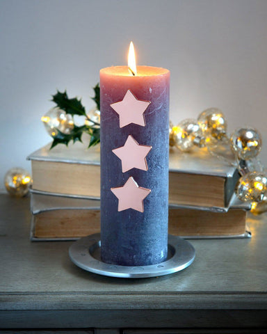 Retreat Home Rose Gold Star Candle Pins - ash-dove