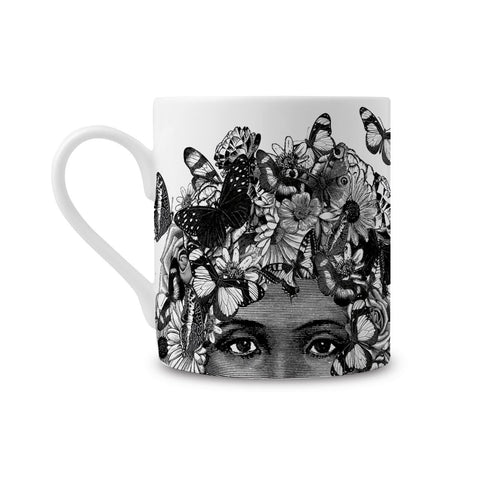 Butterfly Lady Fine China Mug by Chase & Wonder - ash-dove