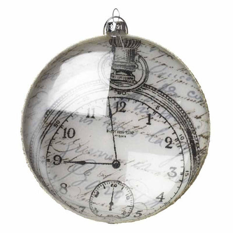 Large Glass Hanging Clock Decoration - Ash & Dove