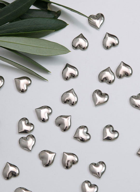 Retreat Home Heart Metal Table Confetti in Silver - ash-dove