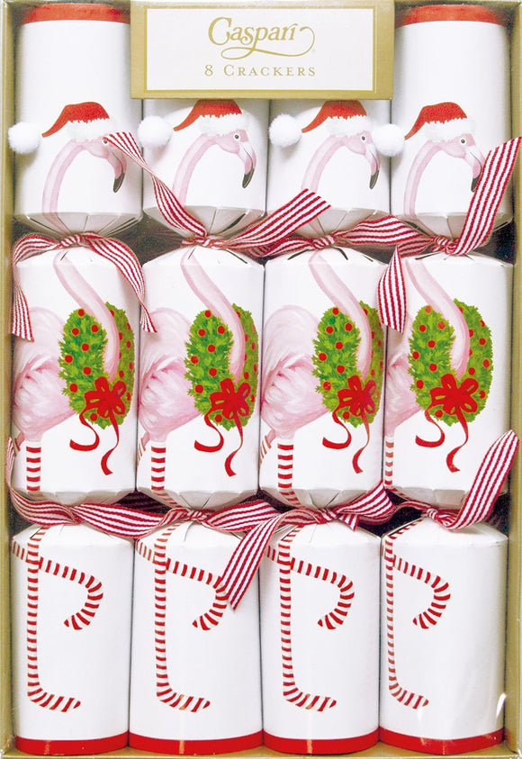 Flamingo Christmas Crackers by Caspari - ash-dove