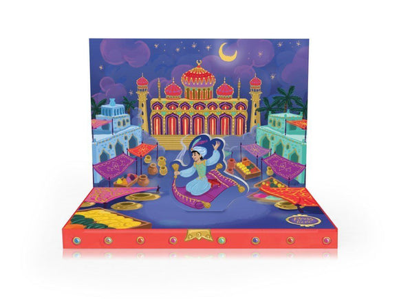Music Box card - Aladdin's Adventures Musical pop up card by My Design Collections - Ash & Dove