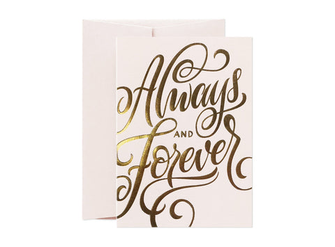 Card Nest Always and Forever Greeting Card - ash-dove