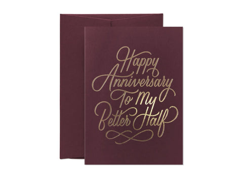 Wedding Anniversary My Better Half Greeting Card Greeting Cards Card Nest