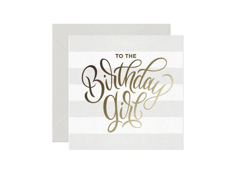 Card Nest Birthday Girl Greeting Card - ash-dove