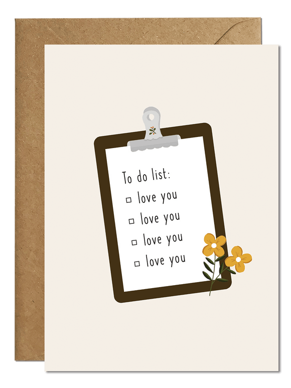 Love You Card Greeting Cards Ricicle Cards