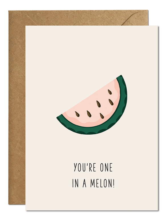 One in a melon Card Greeting Cards Ricicle Cards